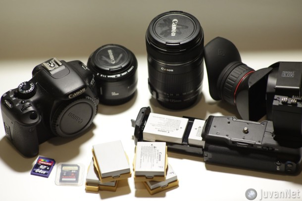 Canon 550D (T2i) and equipment