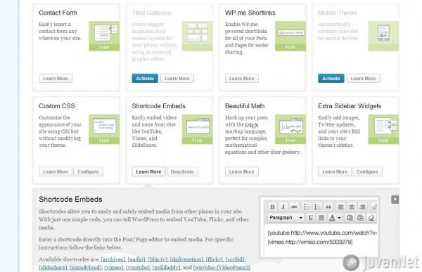 Wordpress Jetpack Shortcode