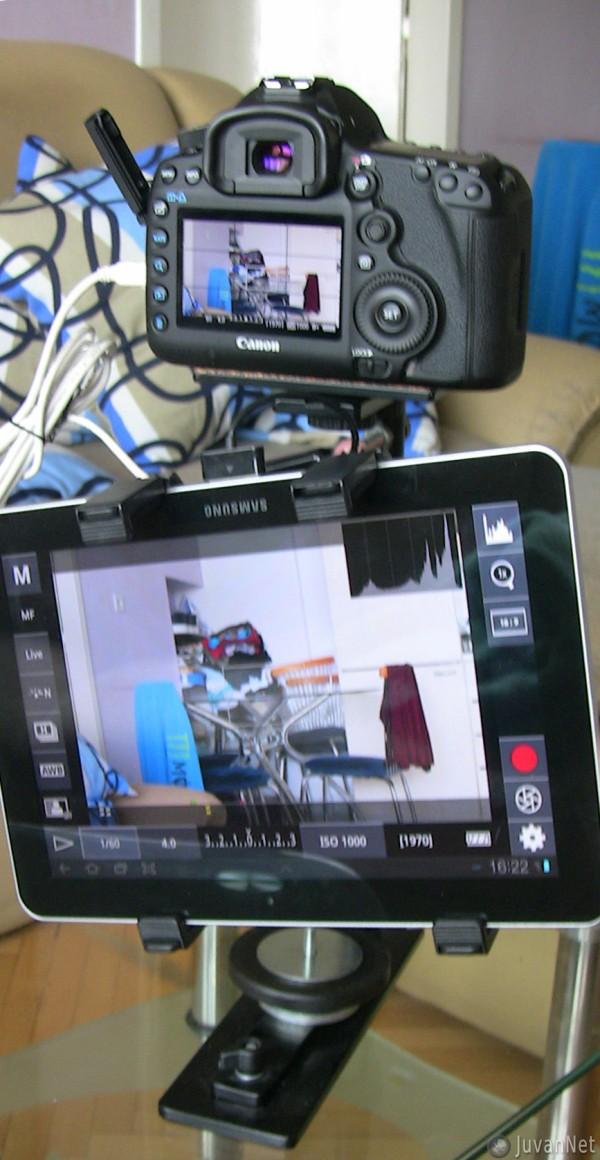 5D mark III + SteadyCam + Galaxy Tab 10.1