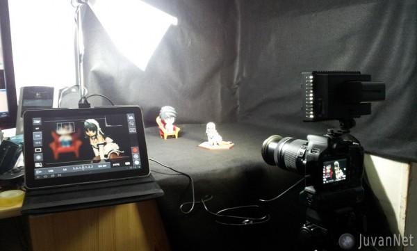 Mini studio z DSLR in Galaxy Tab10.1