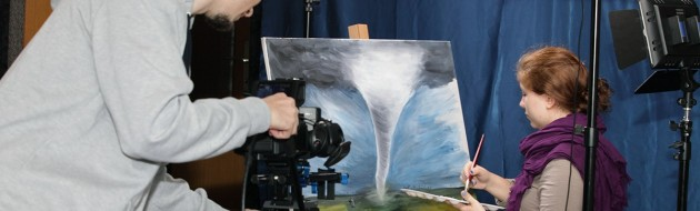 Video production of artist drawing02-JuvanNet
