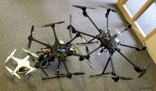 Brezpilotni zrakoplovi za produkcijsko delo od manjšega do večjega. Vir slike.