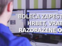 [BLOG] Boleča zapestja, hrbet, vrat in razdražene oči pri delu za računalnikom?